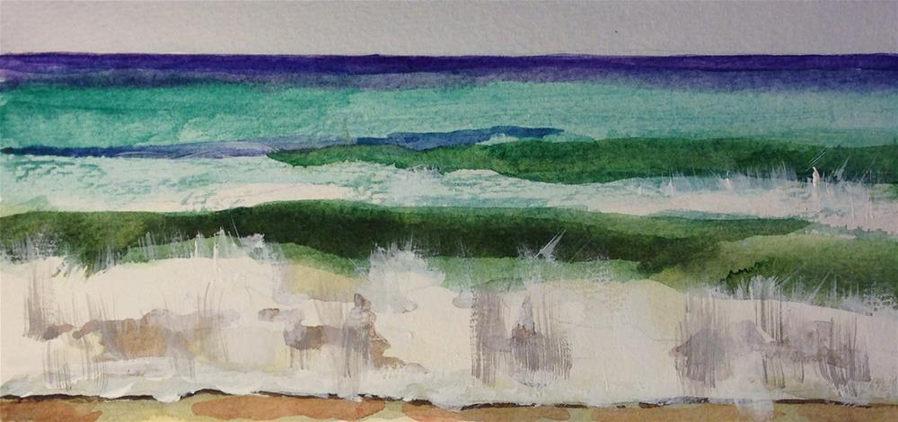 """A Day at the Beach"" original fine art by Linda Lowery"