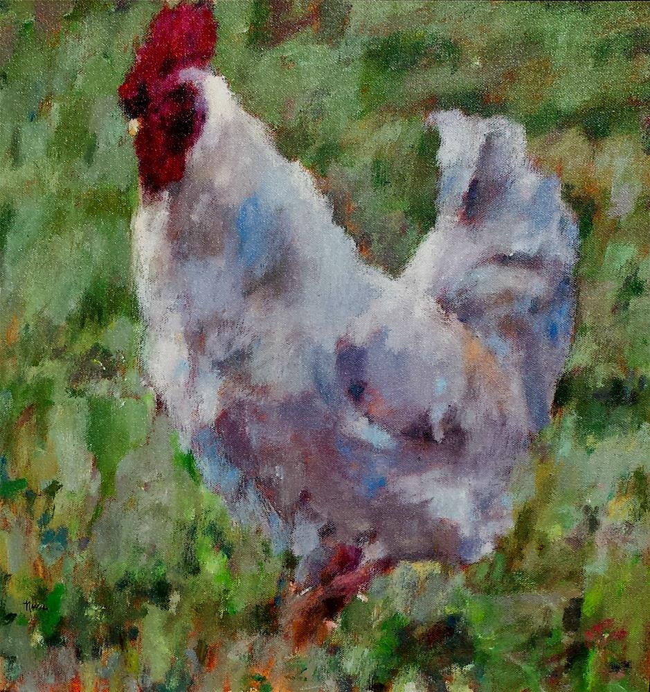 """Ruler of the Roost"" original fine art by Nava Judith"