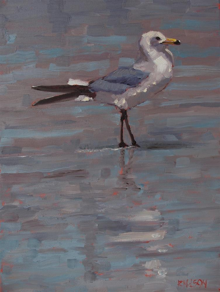 """Surf Gull"" original fine art by Rick Nilson"