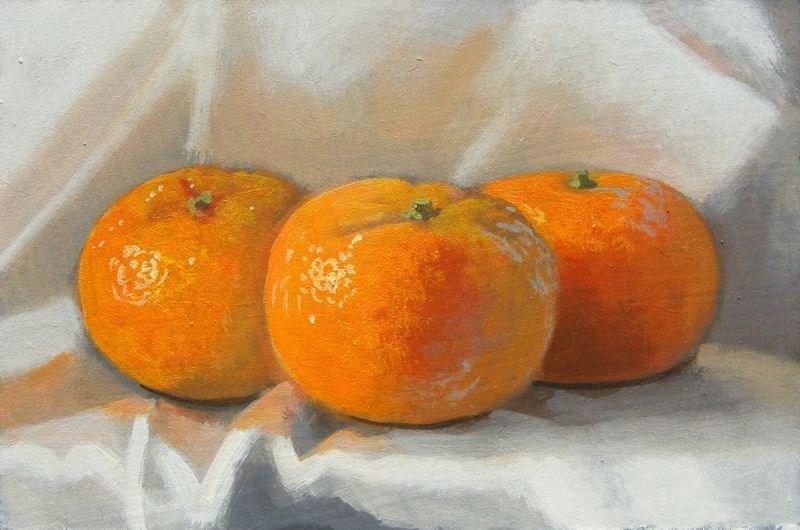 """""""Citrus still life"""" original fine art by Peter Orrock"""