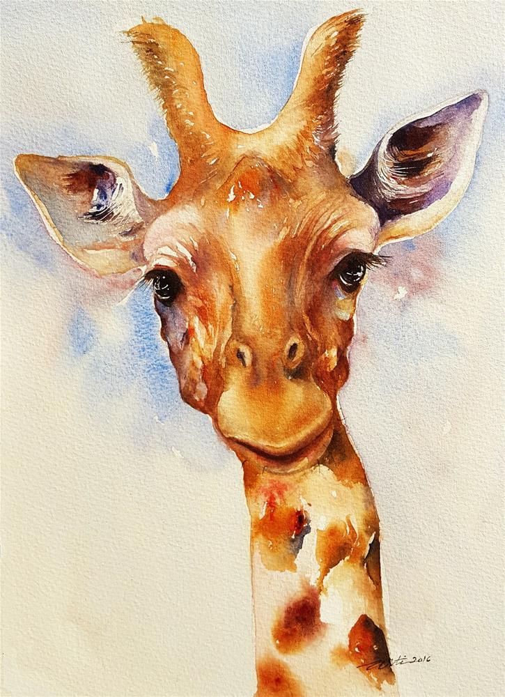 """Giffy the Giraffe"" original fine art by Arti Chauhan"
