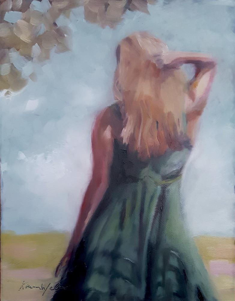 """""""Watching her back"""" original fine art by Karen Weber"""