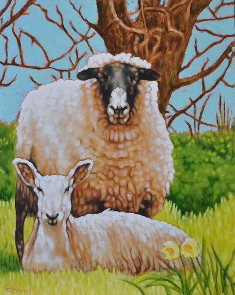 """Ewe There!"" original fine art by Margaret Horvat"