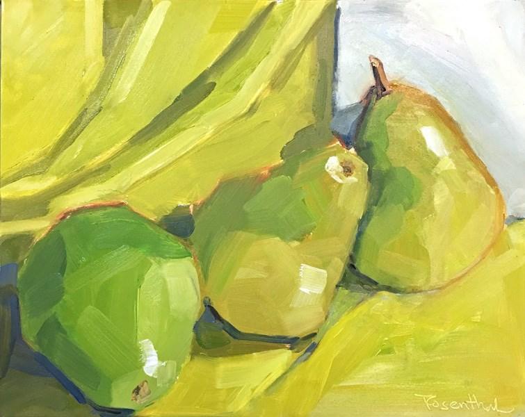 """D'Anjou Pears"" original fine art by Robin Rosenthal"