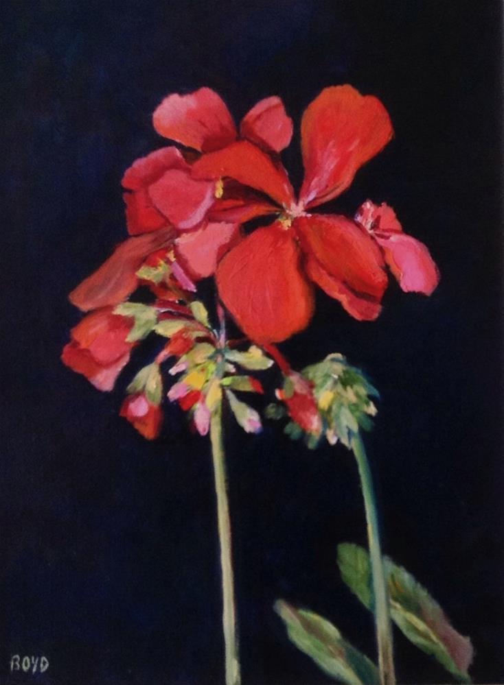 """""""Geraniums"""" original fine art by Cathy Boyd"""