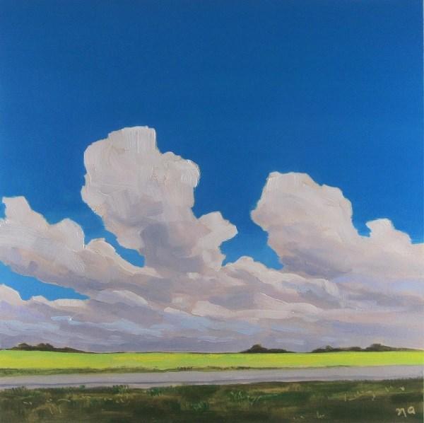 """Canola Ripening Under A Sevres Blue Sky"" original fine art by Nicki Ault"