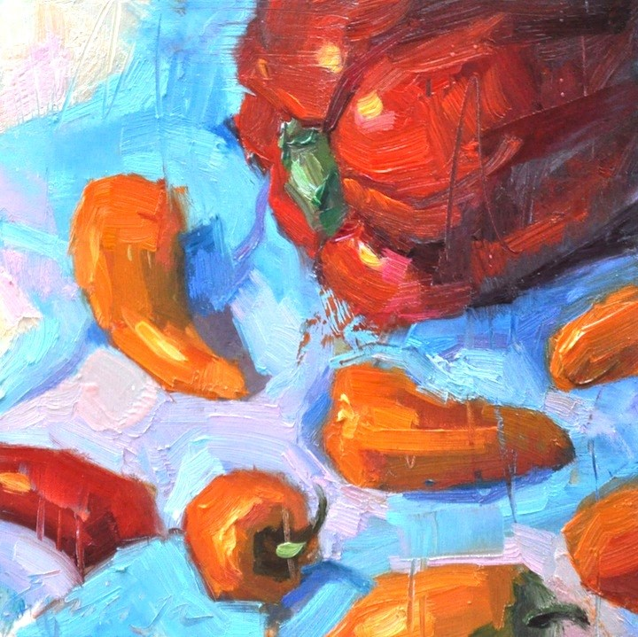 """Fiesta 2"" original fine art by Emiliya Lane"