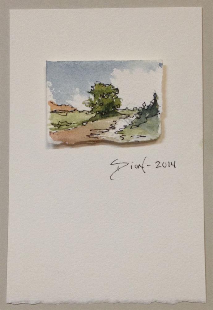 """Miniature Landscape #4"" original fine art by Sue Dion"