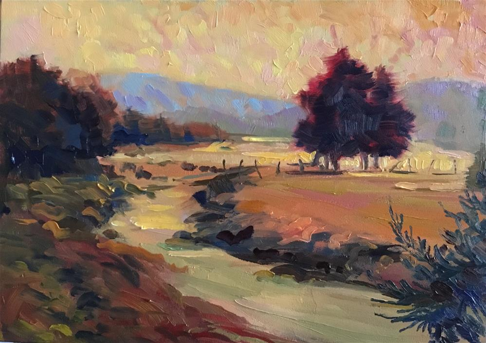 """Shenandoah Farm"" original fine art by Jean Fitzgerald"