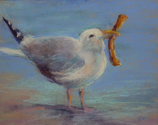 """""""Tips for Painting Sand with Pastels"""" original fine art by Karen Margulis"""