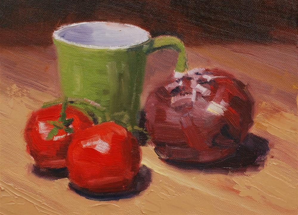 """Family Kitchen"" original fine art by Susan McManamen"