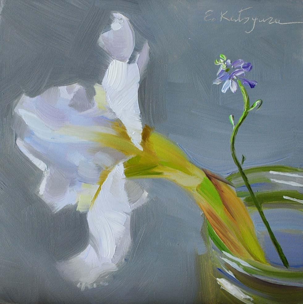 """""""Iris in a Jar"""" original fine art by Elena Katsyura"""