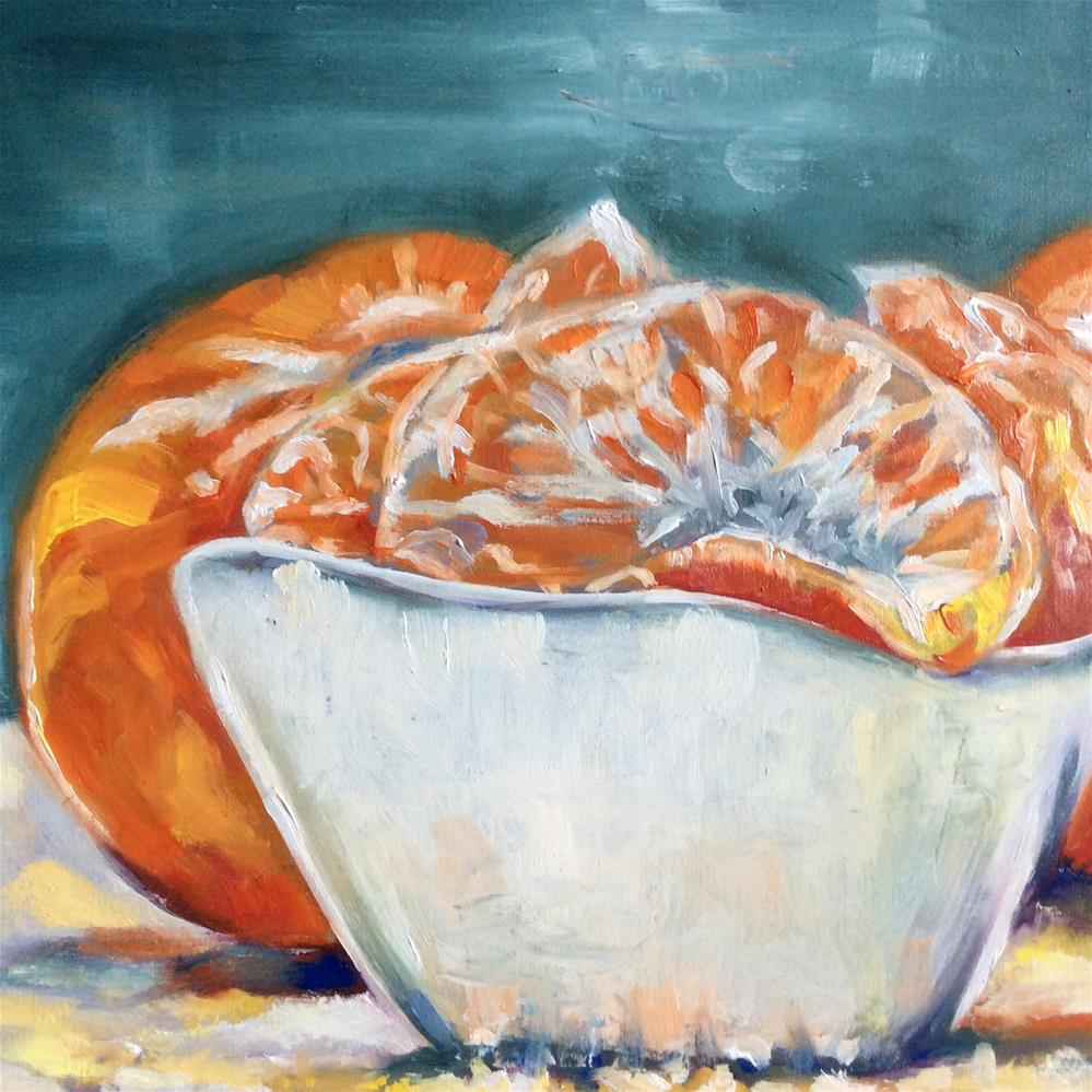 """Bowl of mandarins"" original fine art by Sonja Neumann"