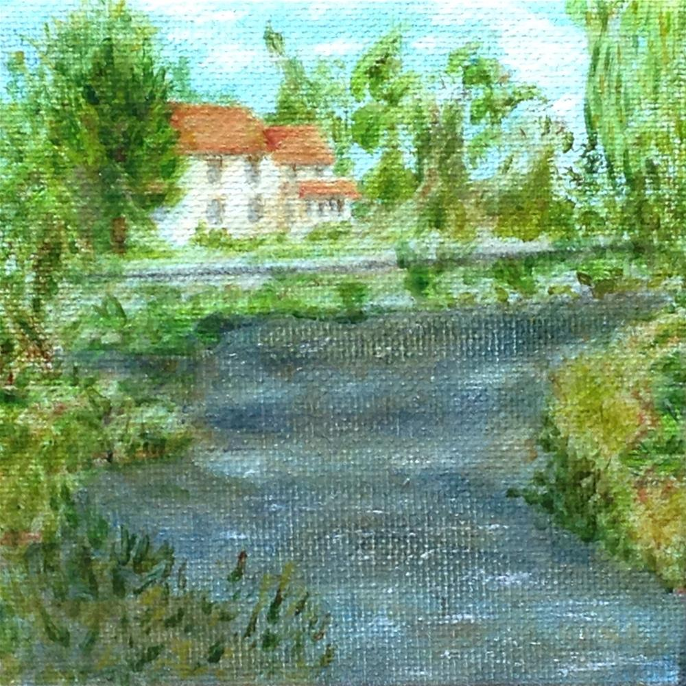 """""""At the River's Bend"""" original fine art by Joy McMicken"""