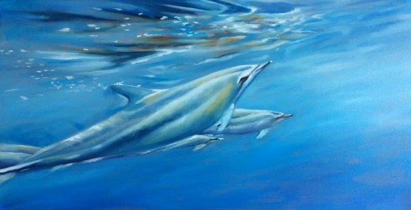 """""""Delfine"""" original fine art by Sonja Neumann"""