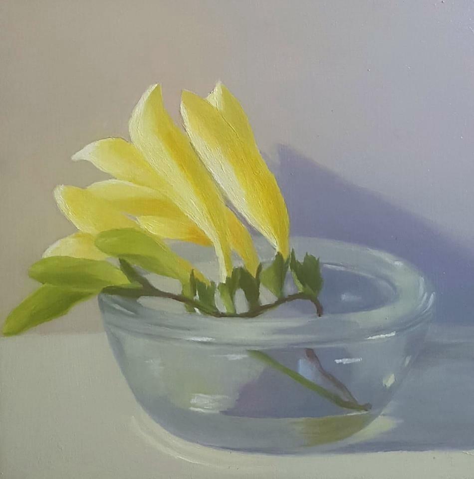 """Freesia"" original fine art by Karen Johnston"