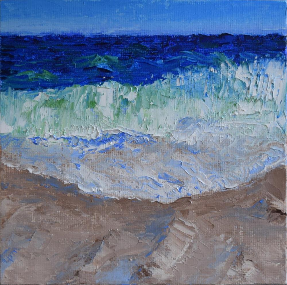 """Wave Meditation"" original fine art by Tisha Mark"