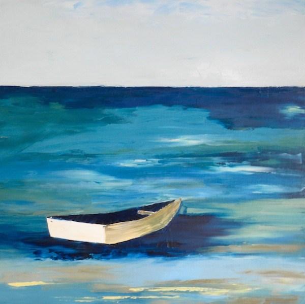 """""""Floating Through Life"""" original fine art by Janet Bludau"""