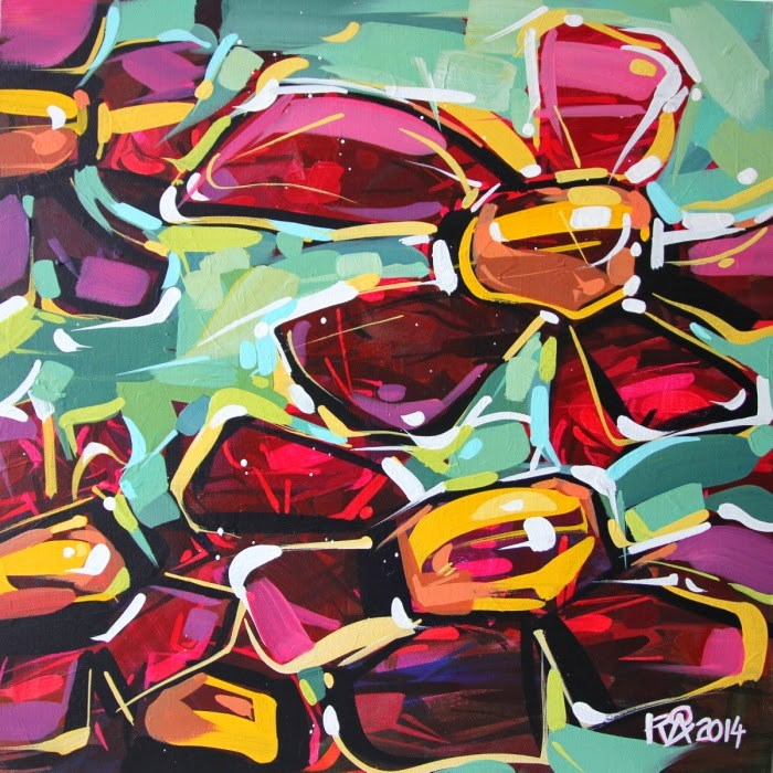 """Flower Abstraction 106"" original fine art by Roger Akesson"