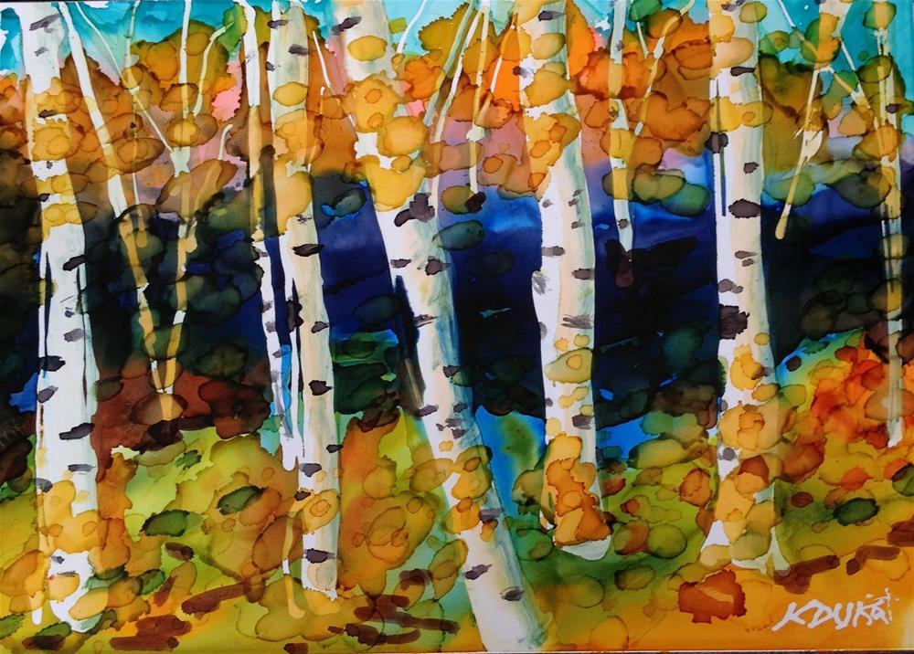 """""""Birch Series 6"""" original fine art by Kristen Dukat"""