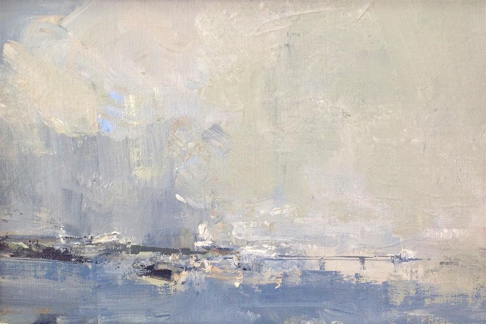 """Rain Over 8x12 oil 2014 $330"" original fine art by Deborah R Hill"