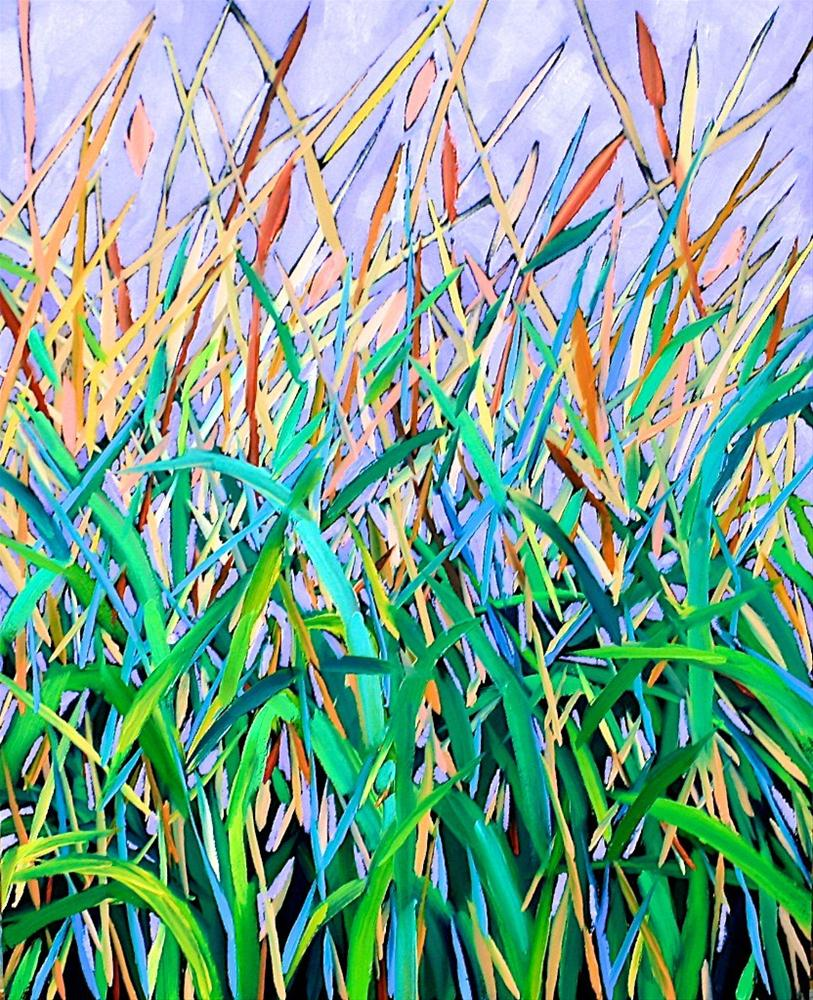 """Marsh Grass"" original fine art by Mary Anne Cary"