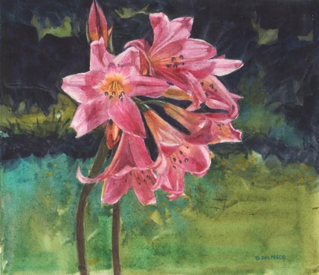 """""""Watercolor: Belladonna (& the magic of Gustav Klimt's drawings)"""" original fine art by Belinda Del Pesco"""