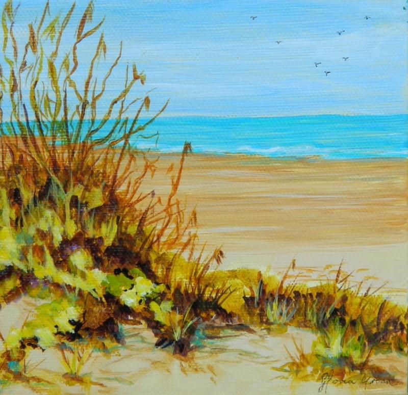 """""""Beach Scape"""" original fine art by Gloria Urban"""
