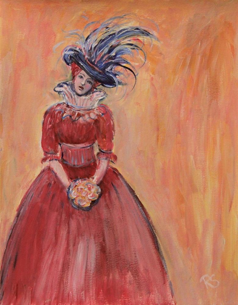 """Lady Avril"" original fine art by Roberta Schmidt"
