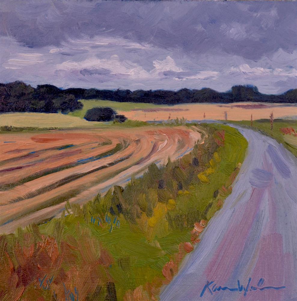 """Somewhere in Normandy"" original fine art by Karen Weber"