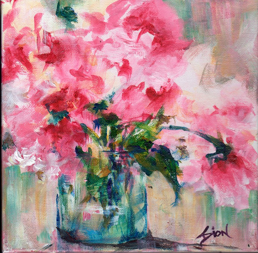 """""""Pink Roses Redefined"""" original fine art by Sue Dion"""