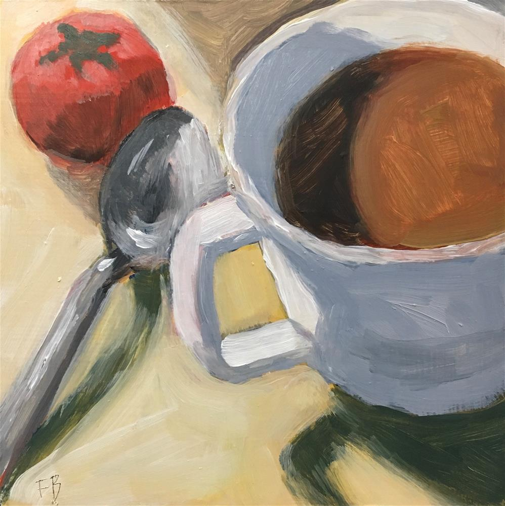 """075 Coffee, Spoon, Tomato"" original fine art by Fred Bell"