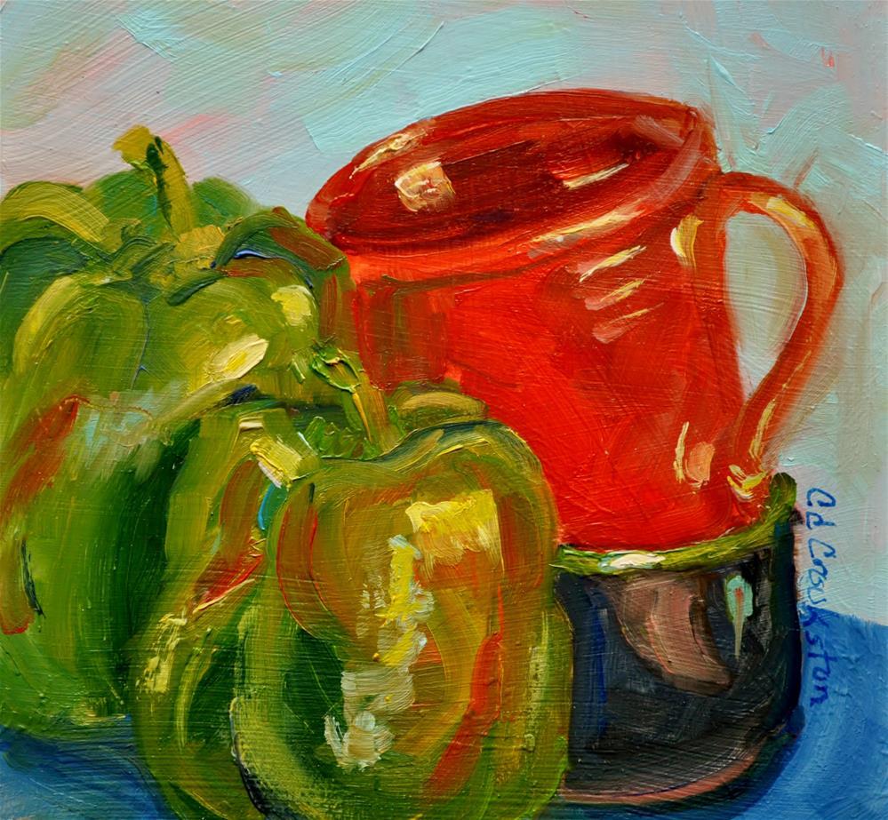 """Mac and Sally Pepper"" original fine art by Catherine Crookston"