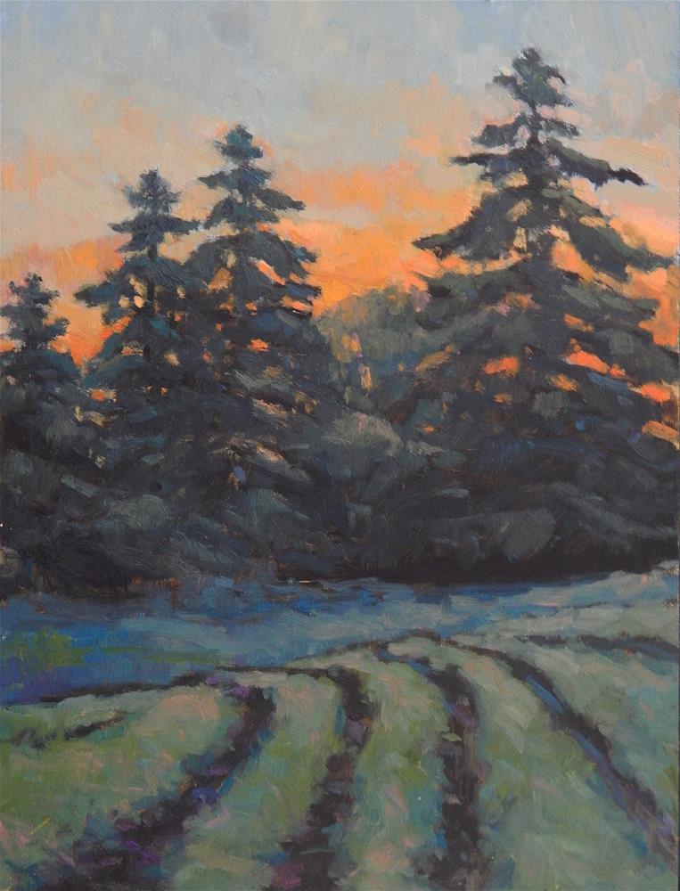 """Mown Fields, Dusk"" original fine art by Lisa Kyle"