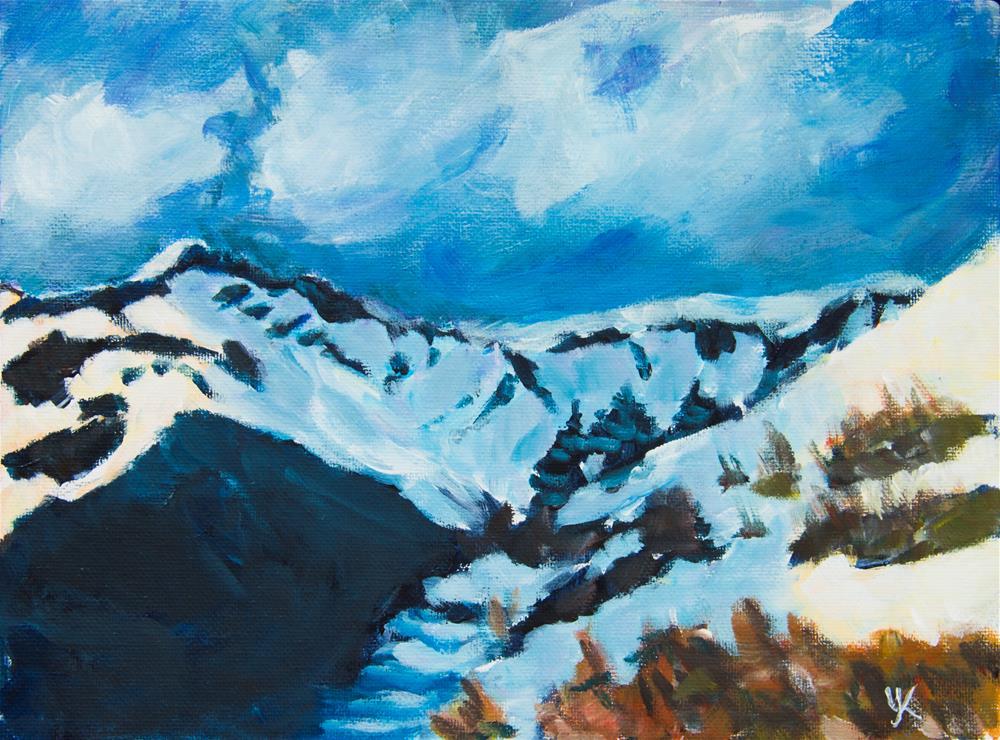 """Spring is coming, Alaska"" original fine art by Yulia Kazansky"