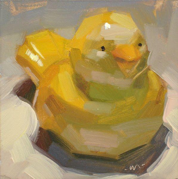 """Mini Birdie"" original fine art by Carol Marine"