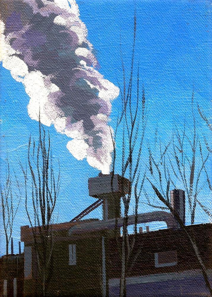 """""""Cloud of Man"""" original fine art by Zack Thurmond"""