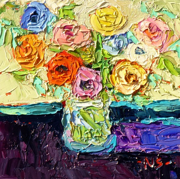 """Reception Flowers 13029"" original fine art by Nancy Standlee"