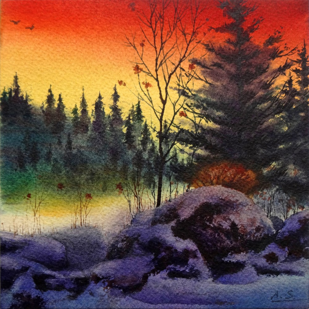 """""""Day's End"""" original fine art by Arena Shawn"""