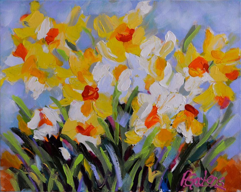 """Daffodil Tangle"" original fine art by Pamela Gatens"