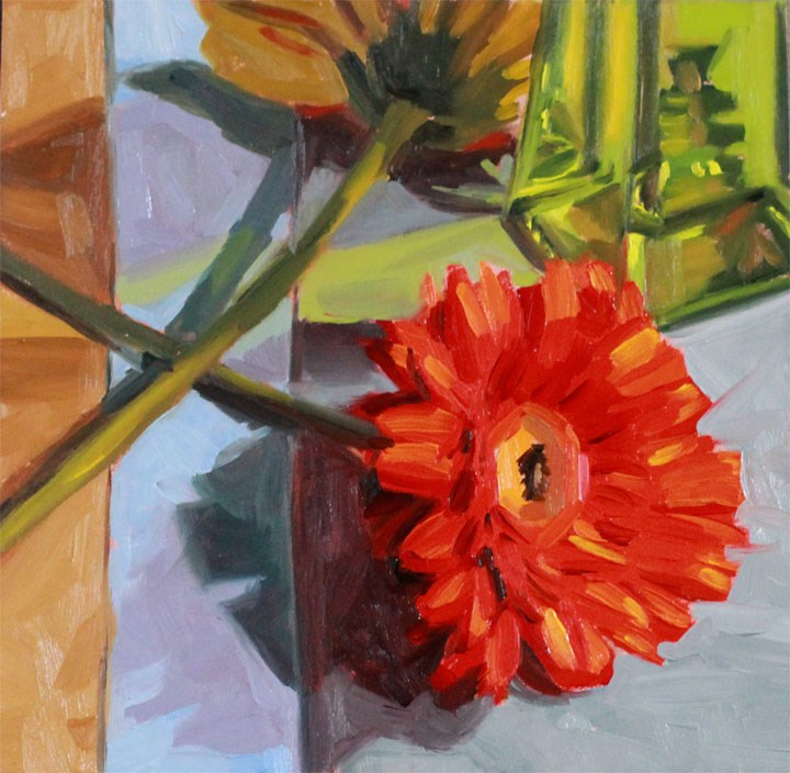 """""""Crossed Daisies"""" original fine art by Nealy May Riley"""