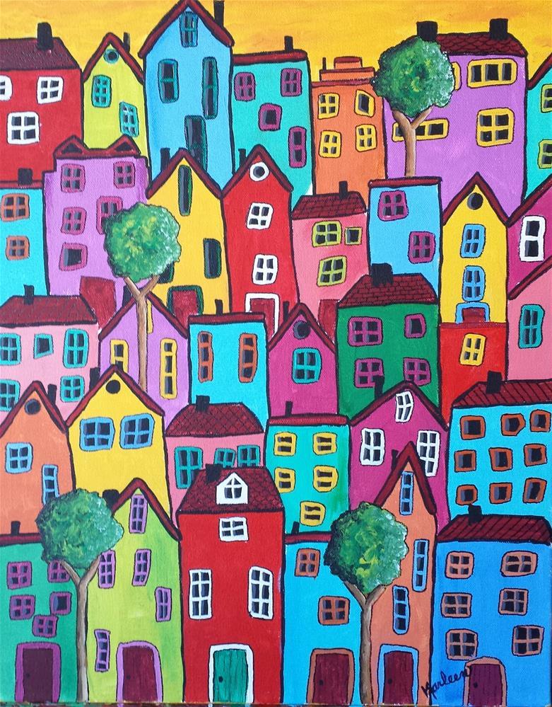 """""""A Green Door"""" original fine art by Karleen Kareem"""
