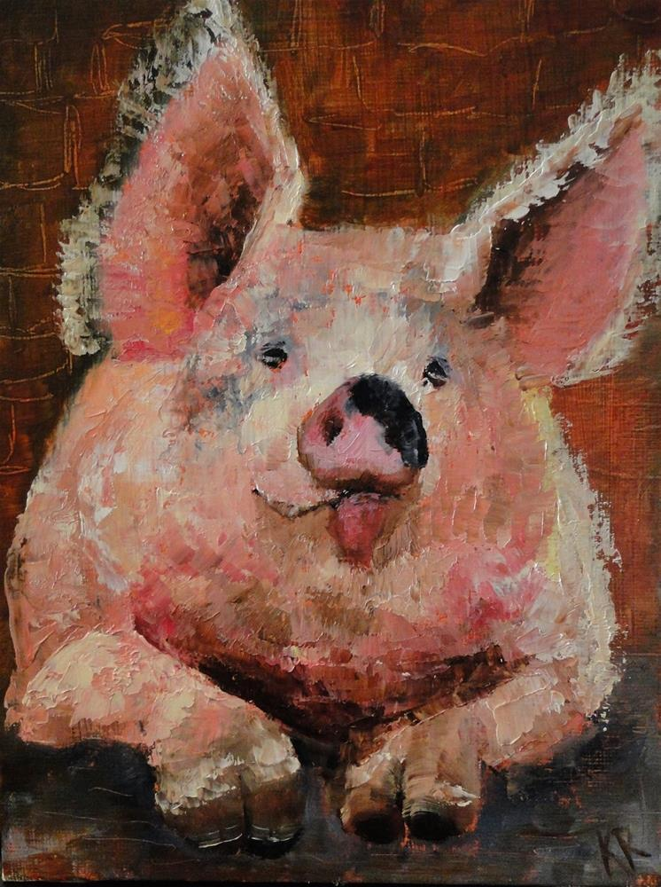 """Pucker up!"" original fine art by Karen Robinson"