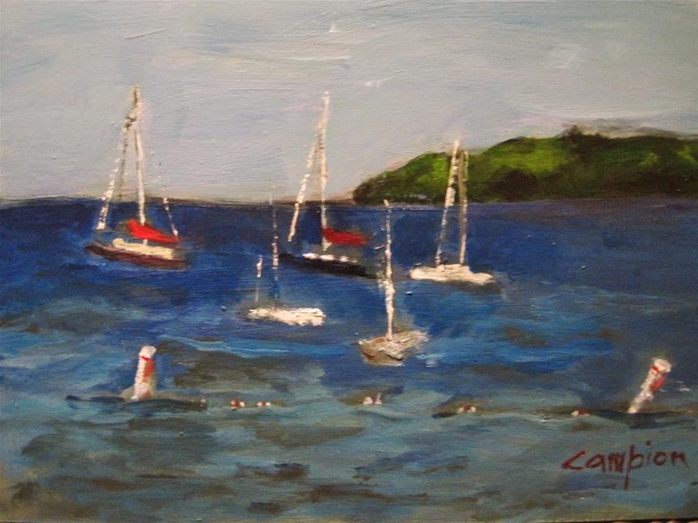 """461 Fish Creek Harbor"" original fine art by Diane Campion"