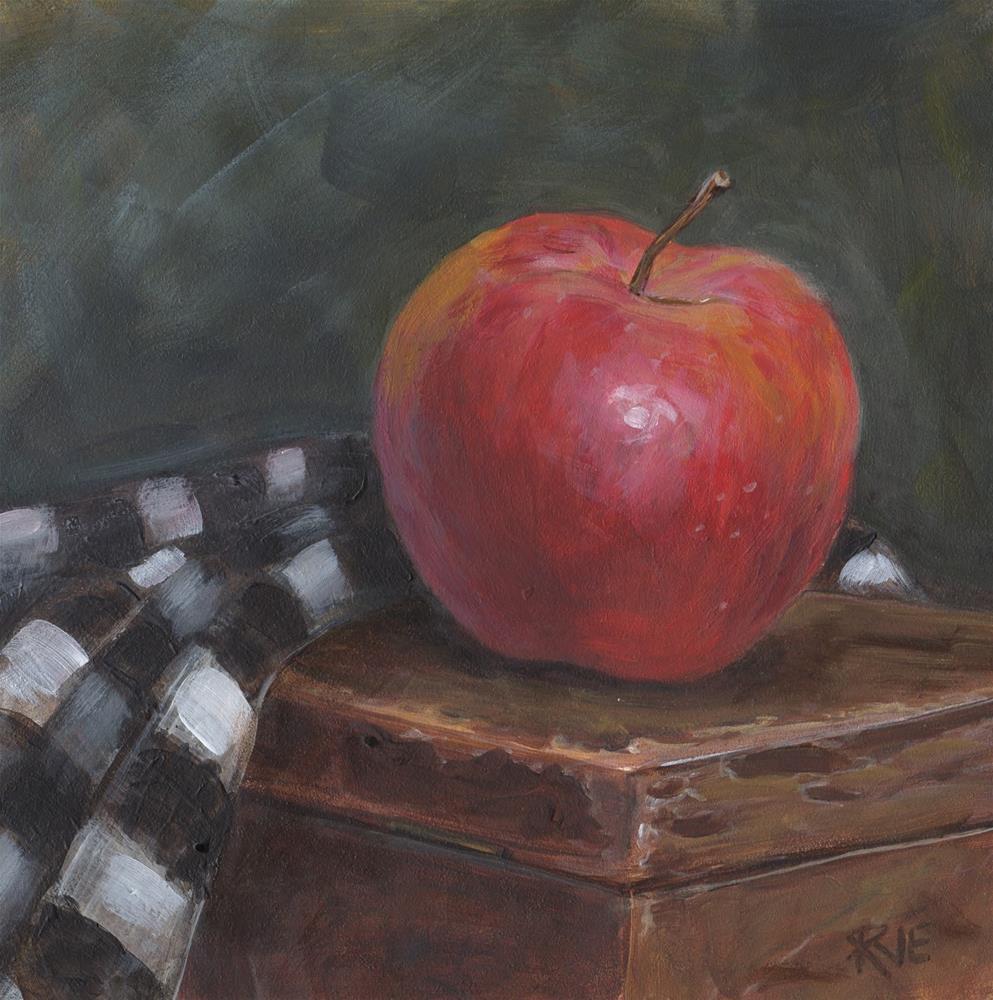 """#92  Apple"" original fine art by Ruth Van Egmond"