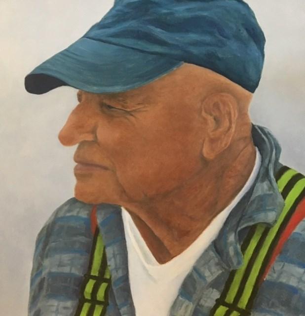 """""""RW, Favorite Old Salt"""" original fine art by Karen Collins"""