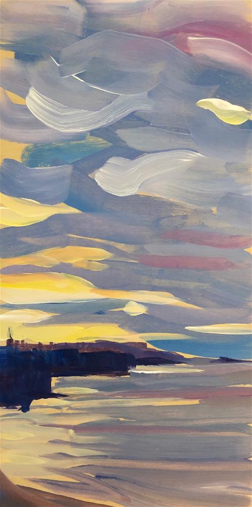 """Sunrise to the East"" original fine art by Kat Corrigan"