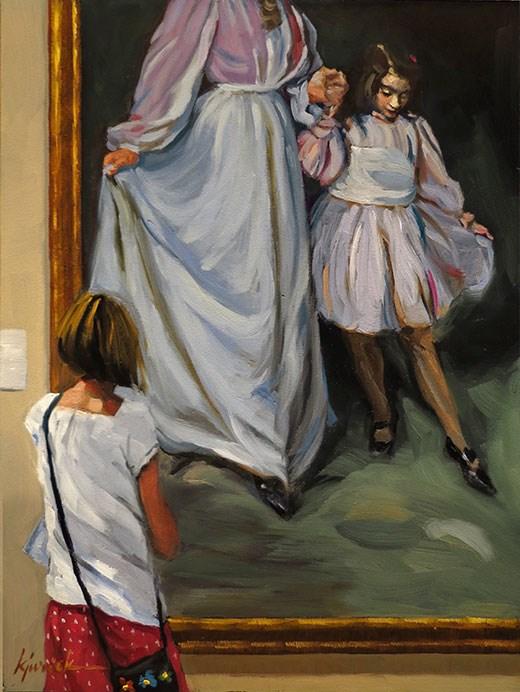 """Dancing With The Gilders"" original fine art by Karin Jurick"