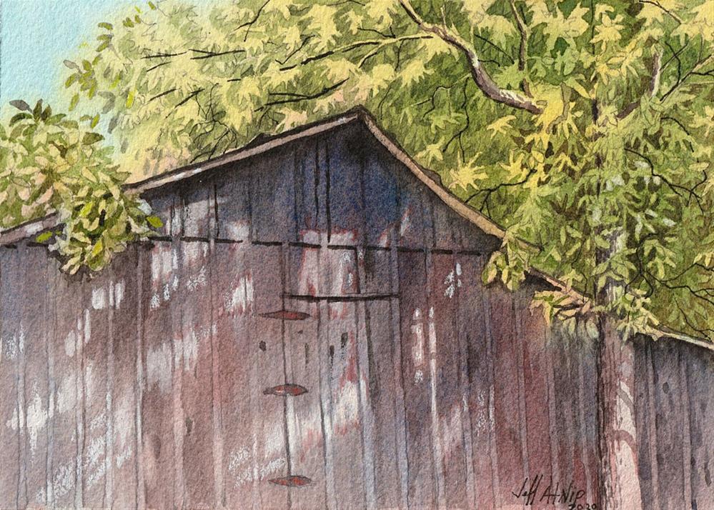 """The Side Of A Barn"" original fine art by Jeff Atnip"