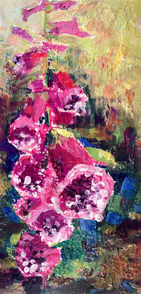 """Foxglove Delight"" original fine art by Melissa Gannon"